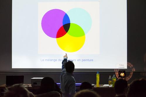 Sur deux jours, un programme de mini conférences à la carte dédiées était dédié aux scolaires © P. Le Tulzo