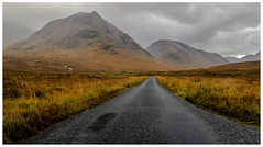 Single Track Road, Glen Etive (Gordon_Farquhar) Tags: road autumn light sky mountain clouds river scotland highlands track glen single glencoe moor orchy etive rannoch