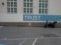 Wien (Sad Mermaid Berlin) Tags: vienna wien street art wall word poem trust