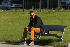 Posthumalaan - Rotterdam (Netherlands) (Meteorry) Tags: street man holland male guy netherlands grass sunglasses rotterdam europe candid nederland thenetherlands august streetscene sneakers trainers smoking converse baskets lad smoker lm rue kopvanzuid paysbas chucks redbull chucktaylors allstars pelouse homme mec zuidholland 2014 entrepot gozer southholland meteorry afrikaanderwijk katendrecht rijnhaven posthumalaan fijenoord gozur