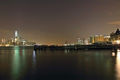 I Cover The Waterfront (pmarella) Tags: pmarella hudsonriver hobokennj jerseycitynj onthewaterfront riverviewpkproductions icoverthewaterfront nightlightsreflections lowermanhattanoneworldtradecenter