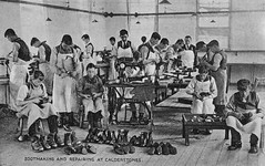 Bootmaking and Repairing at Calderstones (robmcrorie) Tags: history hospital boot idiot lancashire patient health national doctor nhs service british nurse repairing asylum healthcare making imbecile moral mental whalley defective calderstones bootmaking