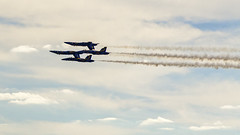 Double Farvel Formation (jasonwsullivan) Tags: sky speed aviation jets flight maryland baltimore blueangels fortmchenry airshows formations stunts unitedstatesnavy starspangled200