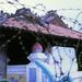 SAIGON 1970 - The Pigneau de Béhaine mausoleum viewed through barbed wire