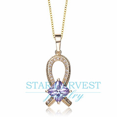 N-0134 Ribbon necklace with gold and silver pendant jewelry (info@starharvestsilverjewelry.com) Tags: silverjewelry silvernecklace ribbonnecklace silverjewelrywholesale silverpendant goldandsilverpendan