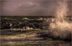 ....Agitazione.... (leon.calmo) Tags: canon toscana onde scogli marinadipisa schizzi eos50d maremosso agitazione leoncalmo