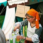Deutscher Evangelischer Kirchentag Köln 2007. Apple juice being served in
