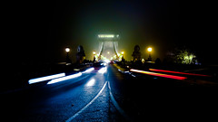 2014_11_01_19_21_47_ProShot (cfortyone) Tags: bridge fog night lights nokia slow traffic budapest foggy chain shutter 930 kd lnchd lumia longexpo jjel kds