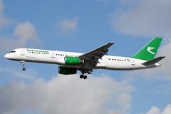 EZ-A012 | Boeing 757-22K | Turkmenistan Airlines (JRC | Aviation Photography) Tags: london heathrow boeing 757 lhr heathrowairport turkmenistan boeing757 londonheathrow egll 757200 boeing757200 eza012