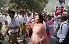 Acche Din (Shubh M Singh) Tags: india sticks rss parade emergency himachal journalism cadre weapons kullu adoration pradesh bjp