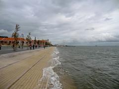 Stone Beach (Mafalda2001) Tags: clouds riverside lisbon beaches ribeiradasnaus