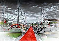 cala d'or (poddy780) Tags: sea sun clouds port boats effects harbour fade dor cala majorca