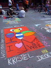 """Colorful """"I Heart Wine"""" chalk art by Kristel Deckx • <a style=""""font-size:0.8em;"""" href=""""http://www.flickr.com/photos/34843984@N07/15541801261/"""" target=""""_blank"""">View on Flickr</a>"""