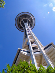 "Space Needle towering above (from below) • <a style=""font-size:0.8em;"" href=""http://www.flickr.com/photos/34843984@N07/15545448405/"" target=""_blank"">View on Flickr</a>"