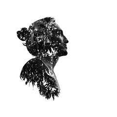 DobleExposicin (Alfredo.Foto) Tags: boy leaves hojas doubleexposure highcontrast mango 1x1 dobleexposicin blackanwhite bwretrato portraitportraitphototakedbyvictornieblaphotosofmangostreeandeditionbyalfredocastilla