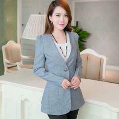 เสื้อสูท แฟชั่นเกาหลีผู้หญิงหลังระบายเข้ารูปสวยหรูมาก นำเข้า สีเทา ไซส์LถึงXL - พร้อมส่งTJ7338 ราคา1100บาท เสื้อสูท หลังระบายกระดุมหน้า1เม็ดเข้ารูปสวยหรูสำหรับสาวออฟฟิสเทรนด์แฟชั่นเกาหลีรุ่นใหม่ จะใส่กับเสื้อเชิ้ตในวันทำงานหรือใส่แบบลำลองคู่กับเสื้อยืดกาง