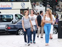 London Tourists (Waterford_Man) Tags: street girls summer people london candid tourists