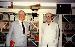 Murray and Marshal of the Royal Air Force, Sir Arthur Harris. (Hugh Peden) Tags: raf 214 squadron 100 group oulton stradishall b17