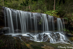 Somersby Falls Sept 14 -066 (Mandy Harvey aka Beadsme) Tags: water photography waterfall australia newsouthwales serene traintrack silky helensburgh somersby sept2014
