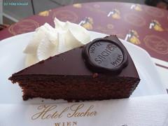 World famous Sacher Chocolate/Apricot Torte (xd_travel) Tags: vienna wien austria 2014 sacher food cake sachercake
