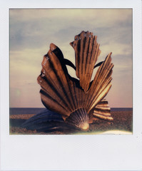 Scallop I (Pictures from the Ghost Garden) Tags: sculpture color colour slr art film beach vintage project polaroid sx70 coast suffolk seaside britten coastal filter tip 600 integral instant benjamin aldeburgh instantcamera folding density maggi composers impossible ip neutral polaroidsx70 onestep instantfilm foldingcameras vintagecameras nd4 hambling impossibleproject