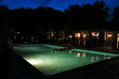 Hubbards Pool (Ted Somerville) Tags: sky green pool night noche saturated glow indianapolis rich indy indiana piscina rico cielo saturation noite select 317 naptown