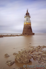 Plover Scar Lighthouse on the Lune Estuary, Lancashire, UK. (Peter J Bailey - Saxon Studio) Tags: uk sea cloud lighthouse 3 blur lune river rocks soft long exposure 10 lancashire estuary 150 stop filter nd sec grad scar plover 2014 peterjbailey