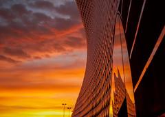 Reflecting the City (Vemsteroo) Tags: morning autumn urban reflection beautiful sunrise 35mm landscape dawn birmingham cityscape fuji dramatic selfridges fujifilm epic bullring brum xf35 xt1 brumrise