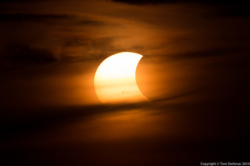 "Solar Eclipse - 6:08PM • <a style=""font-size:0.8em;"" href=""https://www.flickr.com/photos/65051383@N05/15613094622/"" target=""_blank"">View on Flickr</a>"