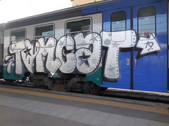 tomcat 9 lives! (en-ri) Tags: train writing torino graffiti arrow 19 bianco nero tomcat stelle cuoricino