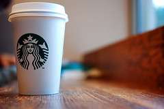 Enjoy with Starbucks! (Elena_Bernasconi) Tags: coffee boston logo unitedstates massachusetts starbucks statiuniti