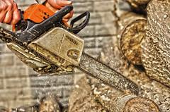 Chainsaws (Morgentau ;)) Tags: wood industry machines holz industrie saws gerte maschinen chainsaws motorsgen