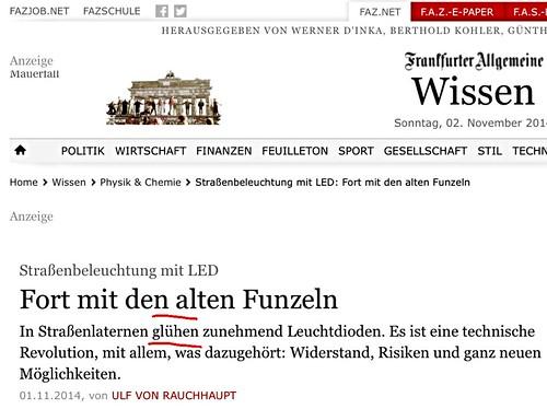 """Technische Revolution? """"Glühende"""" Leuchtdioden bei der F. A. Z. - Augen auf bei der Synonymwahl! • <a style=""""font-size:0.8em;"""" href=""""http://www.flickr.com/photos/77921292@N07/15668106276/"""" target=""""_blank"""">View on Flickr</a>"""