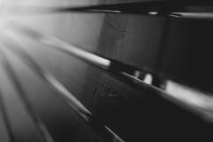 Rayas (Koke Hernn) Tags: light blackandwhite bw espaa blancoynegro luz 35mm vintage bench blackwhite spain day village stripes banco bn barras f18 18 da palencia 2014 haces nikond3200 rallas castillayleon d3200 villasabariego villasabariegodeucieza