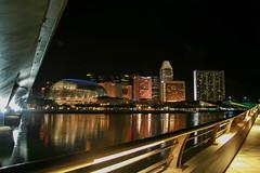 Under the bridge (Titom1000rr) Tags: food reflection night rebel singapore coke chopsticks singapour cocacola merlion xti canonfrance