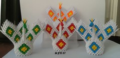 Mini Peacock Origami 3d (Samuel Sfa87) Tags: paper origami arte crafts craft peacock mini sfa artisan folding peacocks papercraft pavone pavo pavoni arteempapel paves origami3d sfaorigami sfa87 arteconlacarta