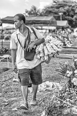 balot vendor (roxskulet) Tags: blackandwhite labor streetphotography worker pinoy balot marikina chicharon