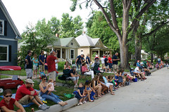 4th of July Parade 2015 (City of Fort Collins, CO) Tags: street blue friends red music white kids america fun community fort trolley flag crowd families july parade bands marching fourth collins floats