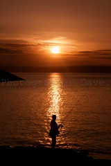 Beautiful Sunset. (Photographer Dave C) Tags: sunset sea summer sky sun seascape colour silhouette canon photography cool fishing bangor creative passion stunning coastline photographerdave 2015 northernirealnd creativephotography creativeart canon400d mymindseye mygearandme canonofficial