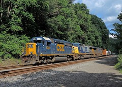 CSX 6341, 291, 3028 (Trains & Trails) Tags: diesel pennsylvania engine transportation locomotive broadford csx fayettecounty emd gp402 6341 darkfuture yn3 standardcab q35504