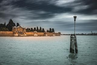 Island of San Michele in Venetian Lagoon
