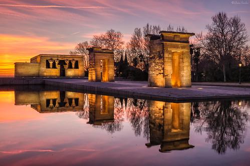 Pharaonic Sunset || Atardecer Faraónico (Templo de Debod, Madrid)