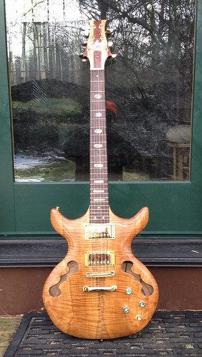 Tiger maple guitar