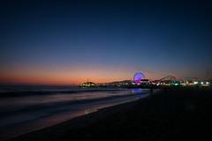 Santa Monica Sunset (BrianEden) Tags: ferriswheel xpro1 ocean sunset pier beach losangeles sky sand fuji santamonica fujifilm la california unitedstates us