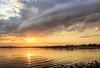 Shelf cloud sunset (Melanie Bradley) Tags: sunset clouds sasco connecticut oceanveiw shelfcloud sascobeach fairfieldct