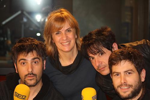 Estopa, Gemma Nierga i Juan Carlos Ortega
