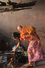 Drying the Leaves (Aubrey Stoll) Tags: lupyi shanstate kalaw myanmar burma south east asia tea leaves farmland shan state hiking cooking kettle pot fruit baby mother hill tribes anthropology national geographic everyday scene wood sticks fire soot smoke mat travel