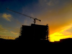 Horror (Mohsan Raza Ali Baloch) Tags: iphone construction under building lift sun sunset sunrise set rise golden hours life abstract islamabad pakistan mohsan raza ali asia asian silhouette crane top orange blue mohsans