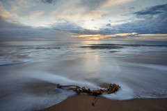 Bright and Early (ce-4) Tags: seascape seashore sunrise water waves longexposure canon6d canon1740mm polarising filter