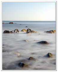 Sidelight (Lynne J Photography) Tags: pier sunrise pastel long exposure beach rapeseed dusk sunset chemicalbeach seaham wheels sand steetley dawn colors rocks sidelight